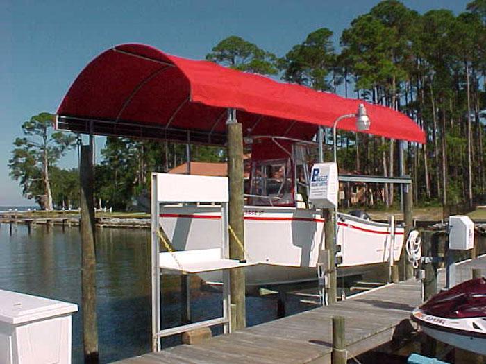 sunbrella canopy tops & Sunbrella Covers - Breeze Boat Lifts